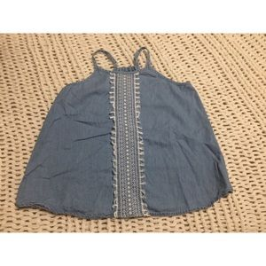 Girl's Gap Tank Top - light denim - XL size 12